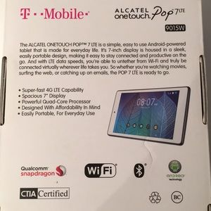 Other - NIB Alcatel One Touch Pop 7